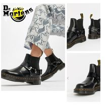 Dr Martens Round Toe Casual Style Plain Leather Chelsea Boots