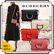 Burberry Casual Style Blended Fabrics 2WAY Bi-color Plain Leather