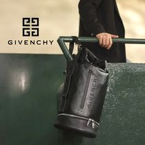 GIVENCHY Street Style 3WAY Plain Leather Backpacks