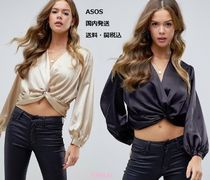 ASOS Casual Style Long Sleeves Plain Shirts & Blouses