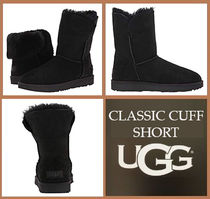 UGG Australia CLASSIC SHORT Round Toe Rubber Sole Casual Style Suede Plain