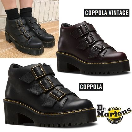 Dr Martens Ankle & Booties Platform Round Toe Plain Leather Ankle & Booties Boots