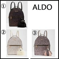 ALDO Studded Plain Glitter Backpacks