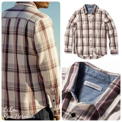 Ron Herman Shirts Other Check Patterns Street Style Long Sleeves Shirts