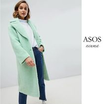 ASOS Blended Fabrics Street Style Long Cashmere & Fur Coats