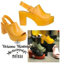 Vivienne Westwood Round Toe Casual Style Collaboration Block Heels