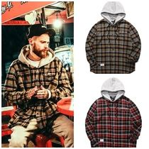 PUNCHLINE Other Check Patterns Street Style Long Sleeves Cotton
