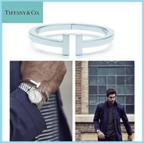 Tiffany & Co Tiffany T Bangles Unisex Plain Silver Bracelets