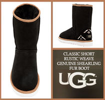 UGG Australia CLASSIC SHORT Plain Toe Rubber Sole Casual Style Suede Boots Boots