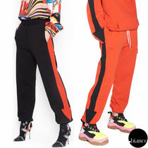 MSGM Casual Style Unisex Sweat Bi-color Long Sweatpants