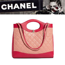 CHANEL MATELASSE A4 2WAY Bi-color Leather Totes