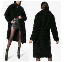 Saint Laurent Cashmere & Fur Coats