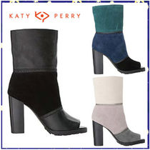 Katy Perry Open Toe Leather Pin Heels High Heel Boots