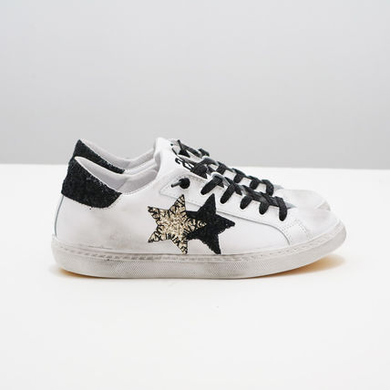 Star Casual Style Unisex Street Style Leather