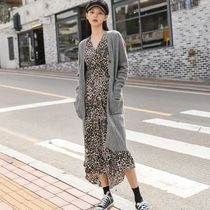 NAIN Casual Style Long Sleeves Plain Long Angola Gowns Oversized