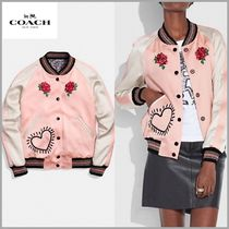 Coach Short Flower Patterns Casual Style Blended Fabrics