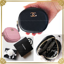 CHANEL Leather Coin Purses