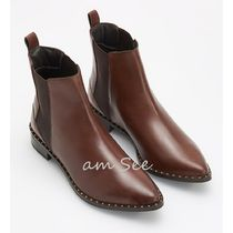 RESERVED Rubber Sole Plain Leather Chelsea Boots