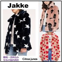 Short Heart Star Faux Fur Coats