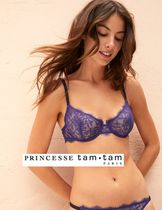 PRINCESSE tam・tam Bi-color Plain Lace Bras