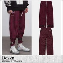 Dezzn Printed Pants Other Check Patterns Patterned Pants