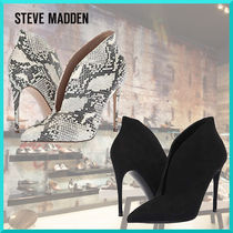 Steve Madden Leather Pin Heels Python Elegant Style Ankle & Booties Boots