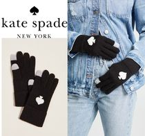 kate spade new york Wool Plain Smartphone Use Gloves