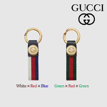 GUCCI Stripes Nylon Keychains & Bag Charms