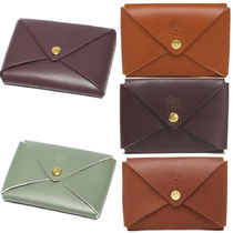 IL BISONTE Plain Leather Card Holders