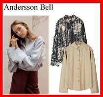 ANDERSSON BELL Casual Style Street Style Long Sleeves Shirts & Blouses