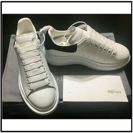 Round Toe Casual Style Blended Fabrics Street Style Bi-color