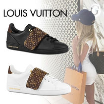 Louis Vuitton Monogram Rubber Sole Lace-up Casual Style Blended Fabrics