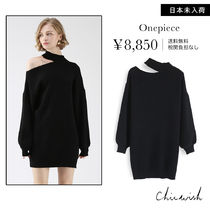 Chicwish Long Sleeves Plain Dresses