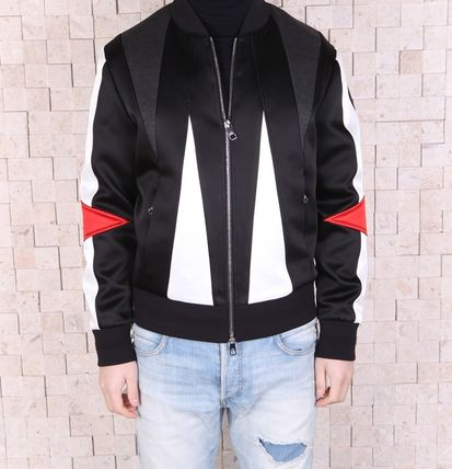 Short Stripes Star Street Style Varsity Jackets
