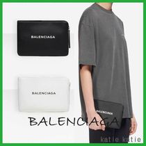 BALENCIAGA EVERYDAY TOTE Casual Style Street Style Bag in Bag Plain Leather Clutches