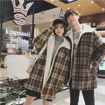 Short Other Check Patterns Unisex Street Style Coats
