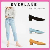 0235ba33c39 Everlane 2018 SS Plain Toe Suede Plain Block Heels Office Style (11134) by  SpreadAloha - BUYMA