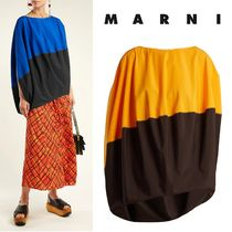 MARNI Casual Style Bi-color Cotton Medium Short Sleeves Oversized