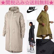 Nike Casual Style Plain Long Outerwear