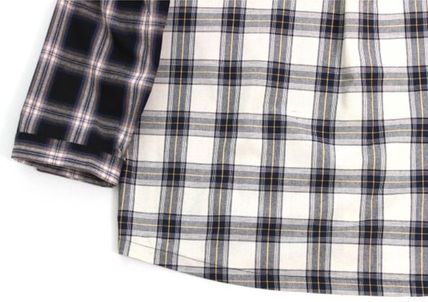 AJO AJOBYAJO Shirts Other Check Patterns Unisex Street Style Long Sleeves Cotton 7