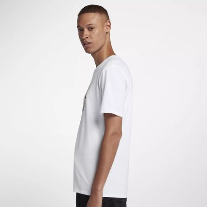 Nike Crew Neck Crew Neck Pullovers Street Style Cotton Short Sleeves 2