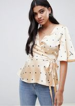 ASOS Star Casual Style Puff Sleeves Shirts & Blouses