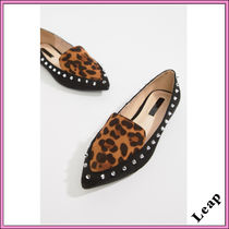 ASOS Leopard Patterns Casual Style Plain Slip-On Shoes