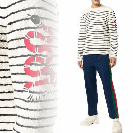 GUCCI Knits & Sweaters Pullovers Stripes Unisex Long Sleeves Knits & Sweaters