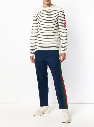 GUCCI Knits & Sweaters Pullovers Stripes Unisex Long Sleeves Knits & Sweaters 2
