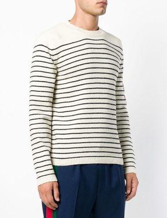 GUCCI Knits & Sweaters Pullovers Stripes Unisex Long Sleeves Knits & Sweaters 3