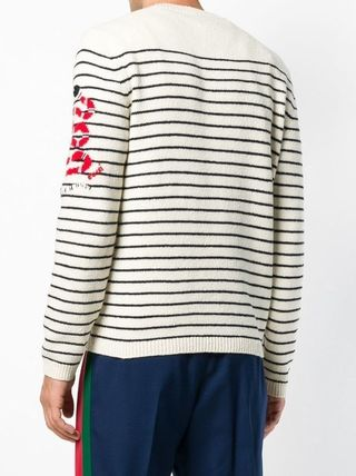 GUCCI Knits & Sweaters Pullovers Stripes Unisex Long Sleeves Knits & Sweaters 4