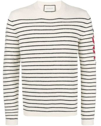 GUCCI Knits & Sweaters Pullovers Stripes Unisex Long Sleeves Knits & Sweaters 6