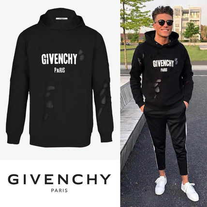 GIVENCHY Hoodies Street Style Long Sleeves Cotton Hoodies