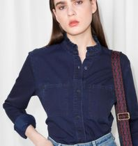 & Other Stories Casual Style Denim Long Sleeves Plain Shirts & Blouses